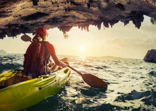 Kayaks and Caves